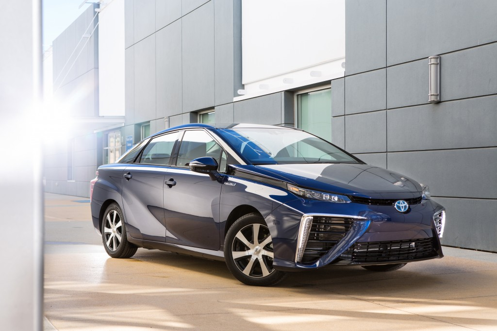 The Mirai can travel 650 to 700 kilometres on its two tanks of hydrogen.  PHOTO: TOYOTA MOTOR CORP.