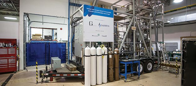Gaz Metro's pilot project uses a thermochemical process to turn forest biomass into natural gas. PHOTO: GAZ METRO