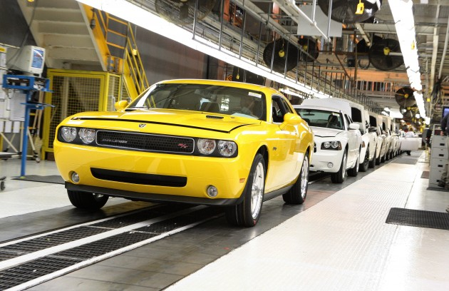A Dodge Challenger R/T coming off the production line at Chrysler's Brampton Assembly Plant. ©Chrysler Group