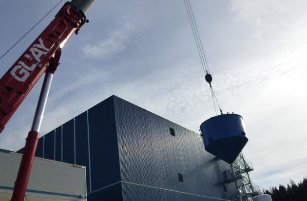 Orbite HPA production plant under construction.  Photo: Orbite
