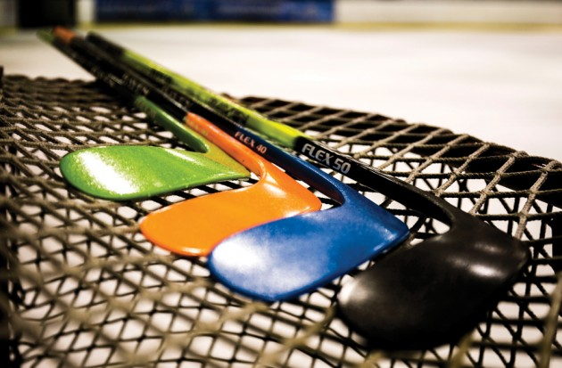 Raven sticks outsold market heavyweights at one of Calgary's largest sports stores. PHOTO: RAVEN HOCKEY