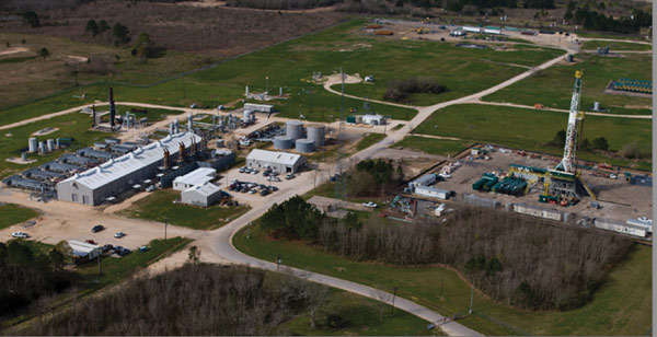 An aerial view of the Union Gas storage and transmission facility near Sarnia, Ont. PHOTO: UNION GAS