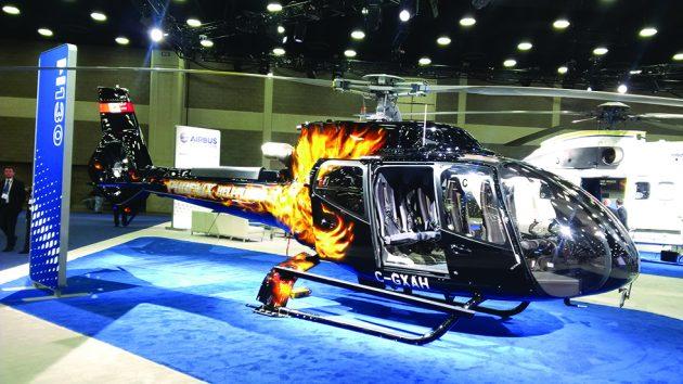 Phoenix Heli-Flight's new Airbus H130, made in Fort Erie, Ont. PHOTO: JOLEA BROWN