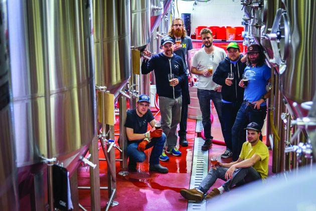 Sawdust City's brew team at its Gravenhurst, Ont. headquarters. PHOTO: Emily Collins