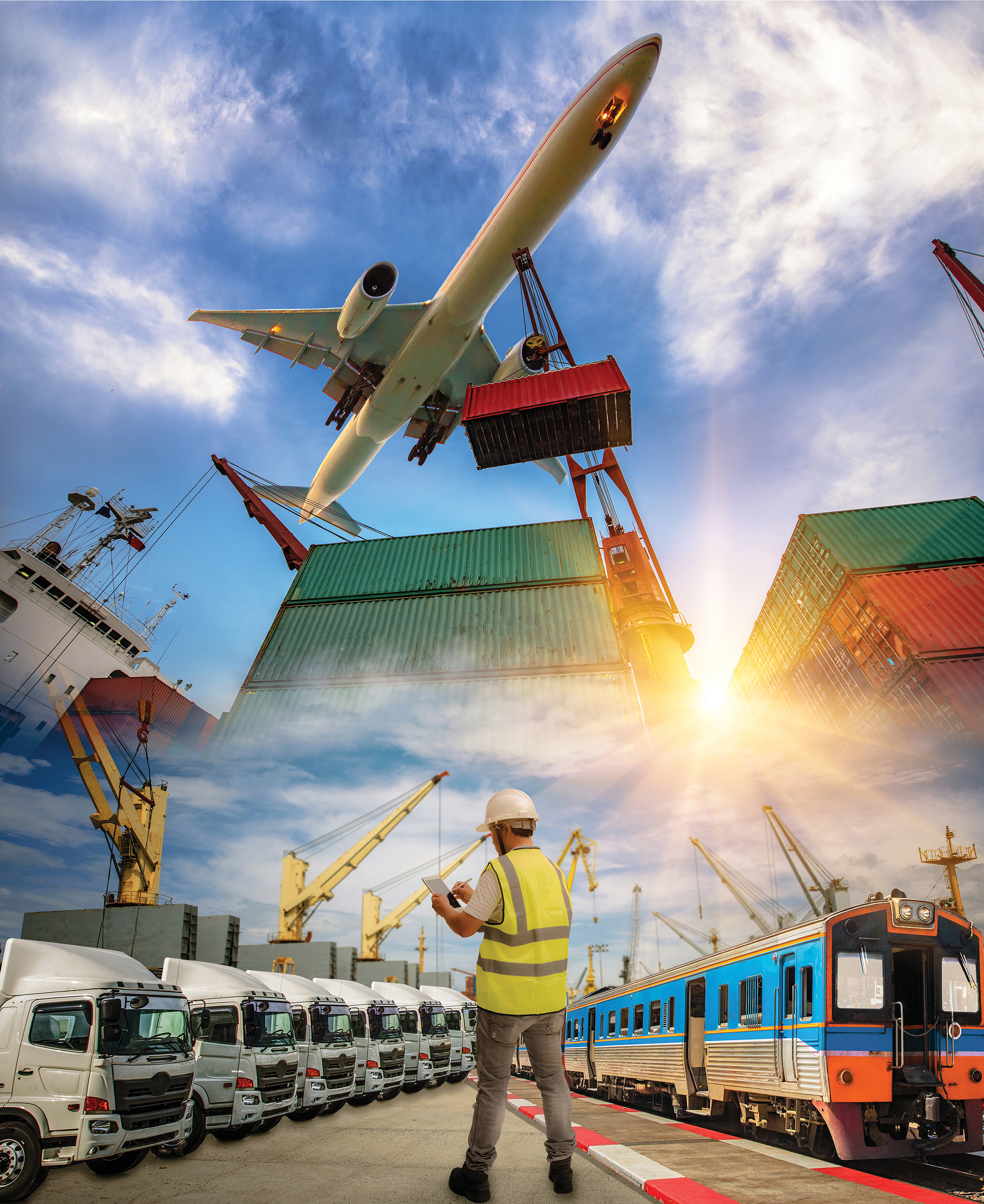 logistics system and transport services to Worldwide, inland and